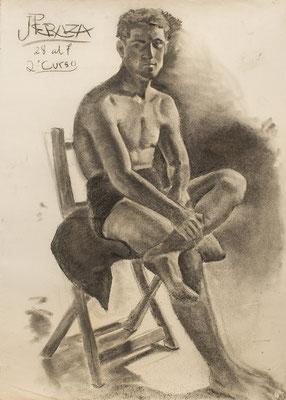Carboncillo sobre papel. 71 x 100 cm. Col. familia Macía Bonnet