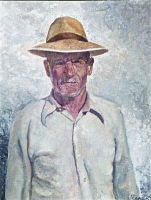 Don Eugenio.  Obra no localizada, rescatada del archivo fotográfico del pintor