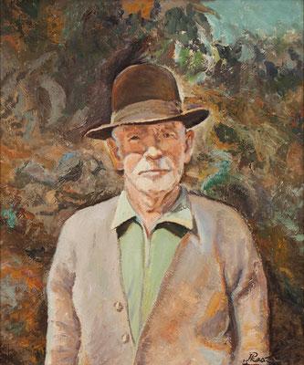 Don Eugenio.  Óleo sobre lienzo, 57 x 68 cm Real Academia Canaria de Bellas Artes