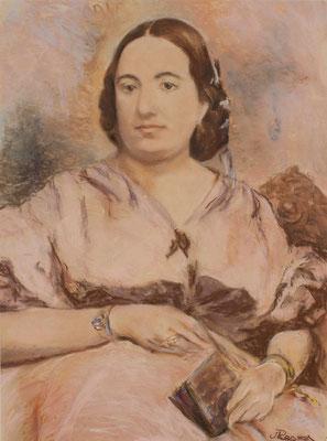 Eloísa Bonnet Torrente. Pastel y crayón sobre papel, 40 x 54 cm. Col. familia Macía Bonnet