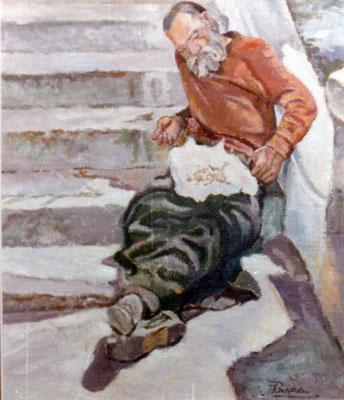 Vagabundo (Siesta).  Obra no localizada, rescatada del archivo fotográfico del pintor