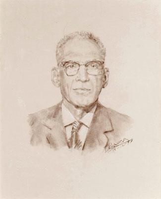 Manuel Macía Fuerte, 1979. Crayón bistre sobre papel, 48,5 x 60 cm. Col. familia Macía Bonnet