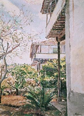 El Lamero (Garachico).  Obra no localizada, rescatada del archivo fotográfico del pintor