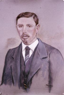 Antonio Martínez García. Pastel y crayón sobre papel. Obra no localizada, rescatada del archivo fotográfico del pintor