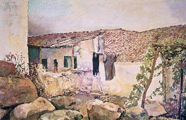 Sin título.  Obra no localizada, rescatada del archivo fotográfico del pintor