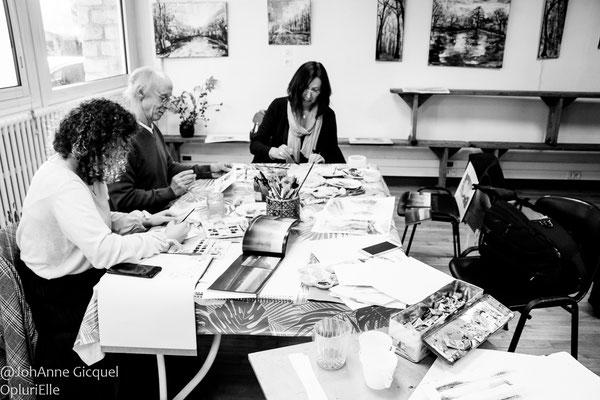 aqaurelle atelier initiation @johannegicquel