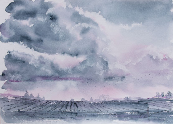 aquarelle paysage bretagne @johannegicquel