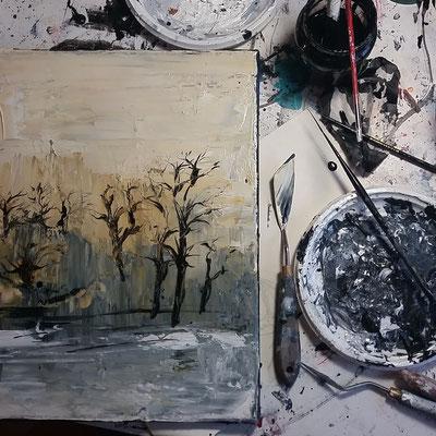 peinture techniques mixtes @johannegicquel.com