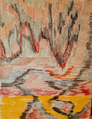 4/2020: Farbskizze, 24x30, Tonzeichenpapier, Ölpastell