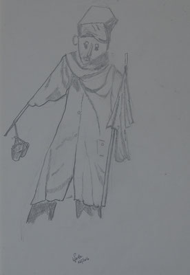 Nr.-I 8: Studie zur Vogelscheuche, Bleistift, A 4, Papier