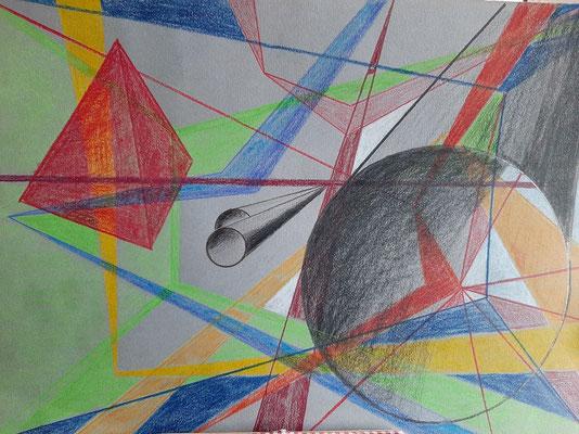 18/2020, Perspektiven 2, Buntstift, A4, Zeichenkarton