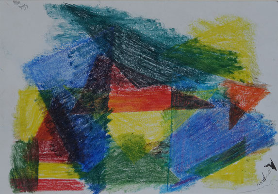 Nr.- I 12: Farbenspiel, Pastell, A 4, Papier