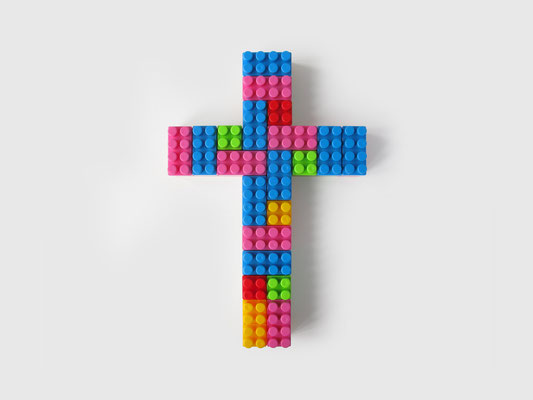 LEGO CRUCIFIX