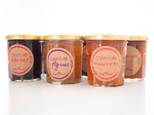 Création des étiquettes de pots de confiture - Graphiste Sarthe