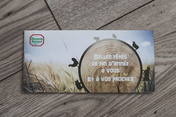 Création d'une carte de vœux d'entreprises - Graphiste Sarthe
