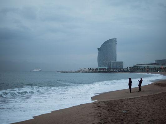 Lever de soleil sur la Barceloneta