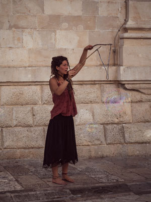 Artiste de rue à Dubrovnik