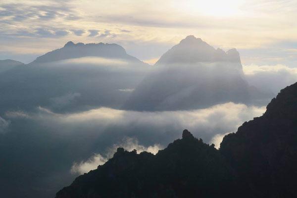 L'incroyable vue sur les sommets voisins