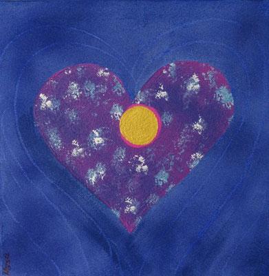 Bild Nr. 239, Format 40/40, Herz blau/violett, Preis Fr. 280.00