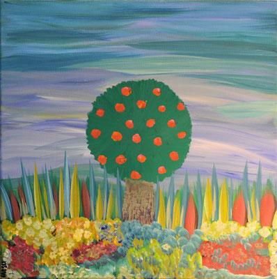Bild Nr. 54, Format 40/40, Apfelbaum abstrakt, Preis Fr. 190.00