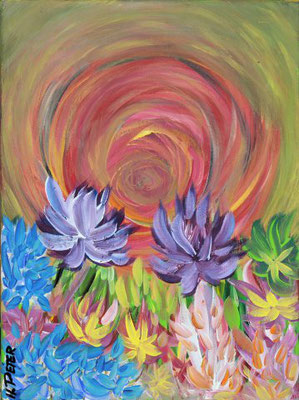 Bild Nr. 38, Format 30/40, Blüten-Explosion, Preis Fr. 140.00