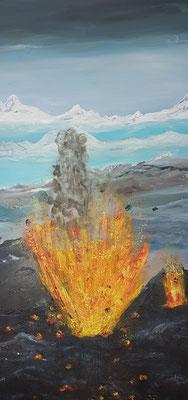 Bild Nr. 364, Format 50/100, Vulkanausbruch, Preis Fr. 760.00