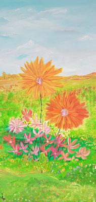 Bild Nr. 346, Format 40/80, 2 dynamische Blüten, Preis Fr. 575.00
