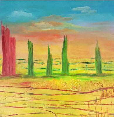 Bild Nr. 125, Format 70/70, Oase in Phoenix, Preis Fr. 750.00