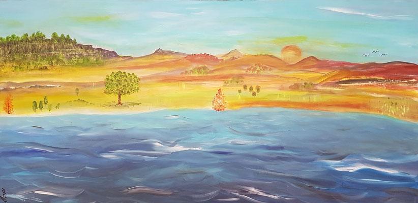 Bild Nr. 339, Format 80/40, Wilder Fluss, Preis Fr. 490.00