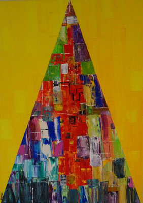 Bild Nr. 220, Format 50/70, Farbpyramide, Preis Fr. 920.00