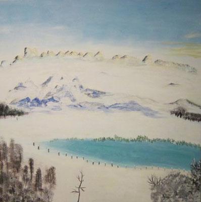 Bild Nr. 167, Format 100/100, Bergsee, Preis Fr. 1'750.00