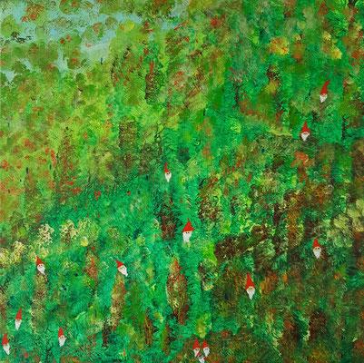 Bild Nr. 385, Format 40/40, Zwergenwald, Preis Fr. 290.00