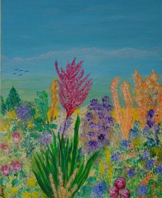 Bild Nr. 286, Format 50/60, Blumen-Rätsel, Preis Fr. 750.00