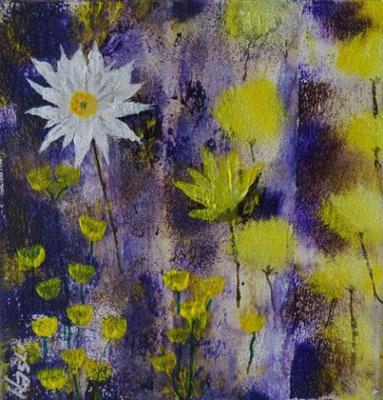 Bild Nr. 273, Format 20/20, Blumen weiss + gelb, Preis Fr. 85.00