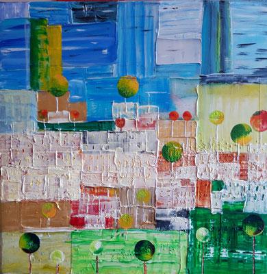 Bild Nr. 337, Format 40/40, Abstrakt, Preis Fr. 225.00