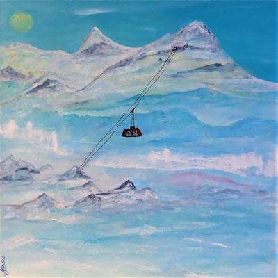 Bild Nr. 351, Format 40/40, Bergausflug, Preis Fr. 280.00