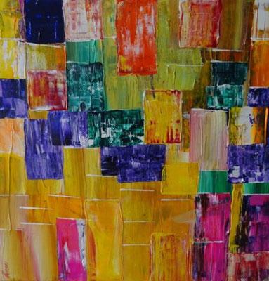 Bild Nr. 285, Format 40/40, Farbenspiel, Preis Fr. 350.00