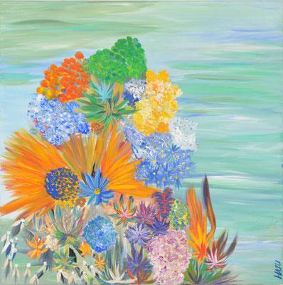 Bild Nr. 126, Format 70/70, Blumen Arrangement, Preis Fr. 580.00