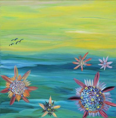 Bild Nr.139, Format 70/70, Magische Blumen, Preis Fr. 720.00
