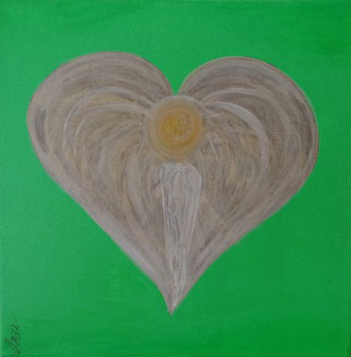 Bild Nr. 246, Format 30/30, Engel grün, Preis Fr. 190.00