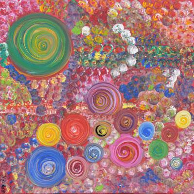 Bild Nr. 112, Format 60/60, Abstrakte Rosen, Preis Fr. 575.00