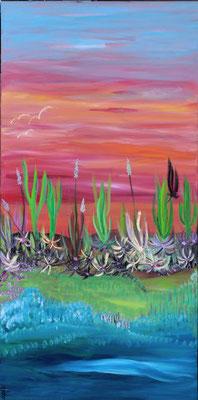 Bild Nr. 100, Format 50/100, Am mystischen Fluss,Preis Fr. 680.00