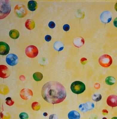 Bild Nr. 334, Format 40/40, Ballon-Invasion, Preis Fr. 290.00