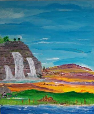 Bild Nr. 328, Format 50/60, Fels-Wasserfälle, Preis Fr. 510.00