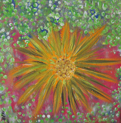 Bild Nr. 183, Format 20/20, Farben Blumendistel, Preis Fr. 85.00