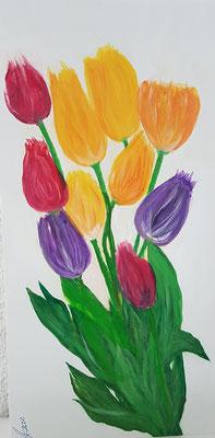 Bild Nr. 365, Format 20/40, Tulpenstrauss, Preis Fr. 195.00