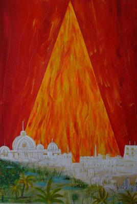 Bild Nr. 243, Format 70/100, Feuerpyramide, Preis Fr. 1'950.00