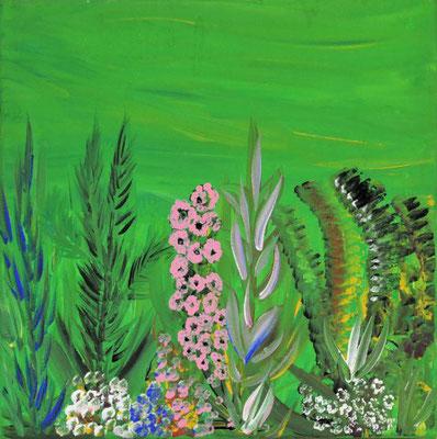 Bild Nr. 17, Format 30/30, Wildblumen, Preis Fr. 165.00