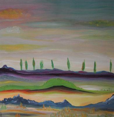 Bild Nr. 192, Format 60/60, Zypressen-Allee, Preis Fr. 560.00
