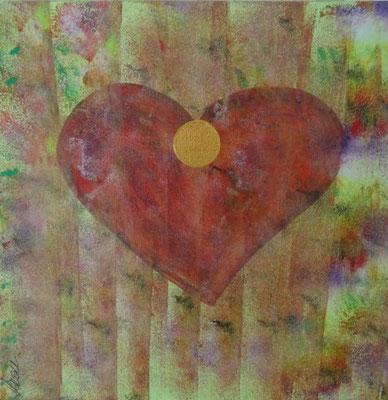 Bild Nr. 247, Format 30/30, Herz mit Streifen, Preis Fr. 175.00